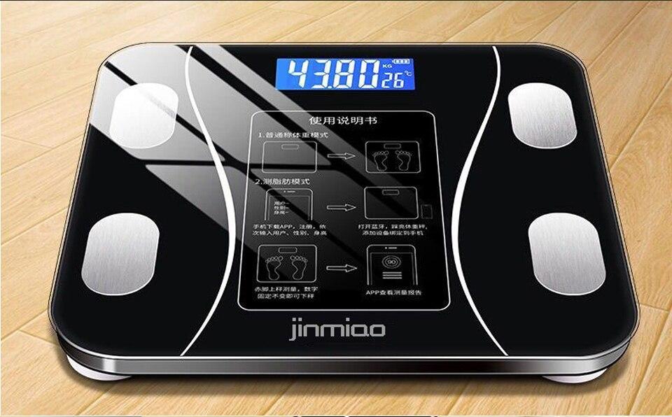 Escala de gordura corporal do banheiro escalas