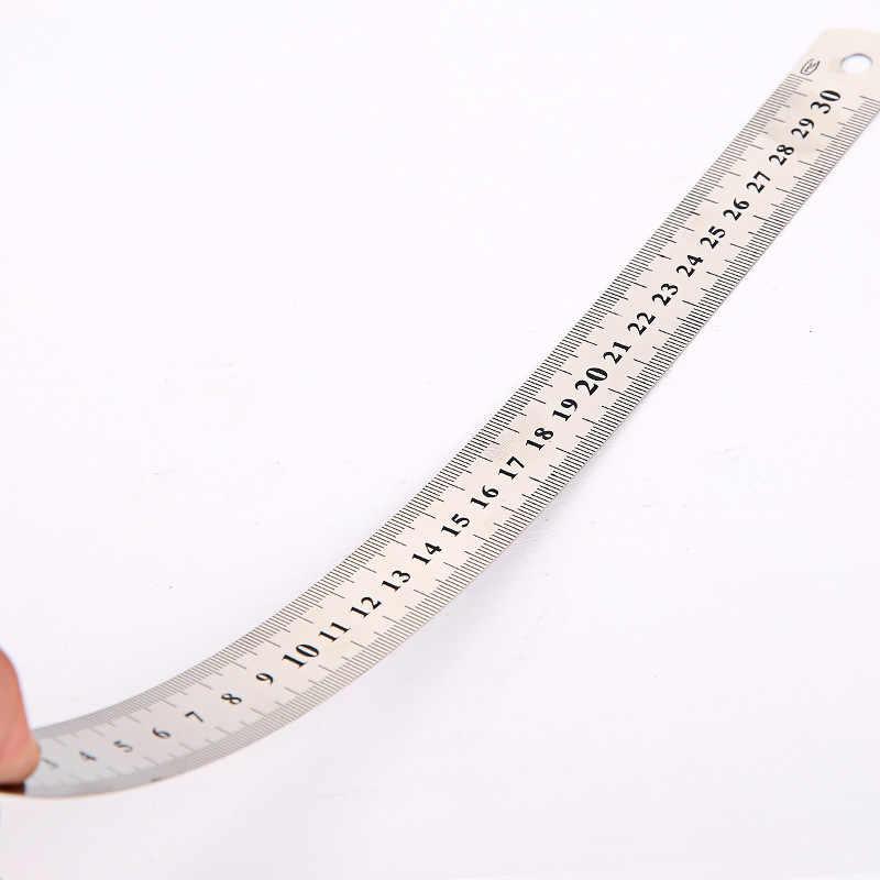 2pcs 15 centimetri In Acciaio Inox di Tasca di Misura Righello Bilancia Regola Double Sided Metrico Scuola di Forniture Per Ufficio Studente di Cancelleria