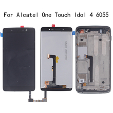Original LCD display for Alcatel One Touch Idol 4 LTE OT6055 6055P 6055Y 6055B 6055K 6055 touch screen digitizer repair parts 100% new for alcatel one touch idol alpha ot6032 6032 lcd screen display with touch screen digitizer assembly free shipping
