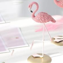 Прекрасный милый Фламинго дизайн смолы украшения дома Рождественские подарки украшения стол украшение для дома Спальня