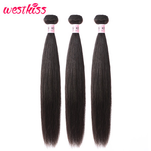 West Kiss Hair Brazilian Straight Hair Bundles Natural Human Hair Extension 10-30 Inch Can Buy 3/4 PCS Remy Hair Bundles Deals(China)