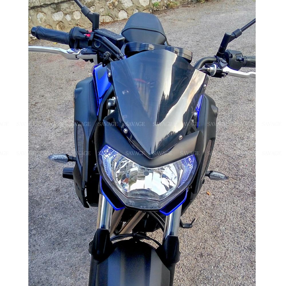 Cúpula Moto Mt 07 Mt07 Parabrisas Moto Mt 07 Fz07 Fz 07 2018 2019 Accesorios De Moto Deflectores De Viento