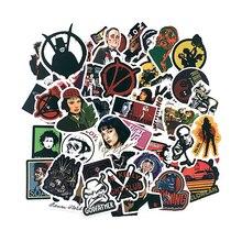 50 sztuk/zestaw klasyczny film Pulp Fiction/Edward Scissorhands/Graffiti naklejki na deskorolce Laptop rowerów wodoodporne naklejki
