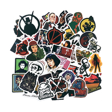 50pcs/set Classic Movie Pulp Fiction/Edward Scissorhands/Graffiti Sticker for Skateboard Laptop Bicycle Waterproof Decals