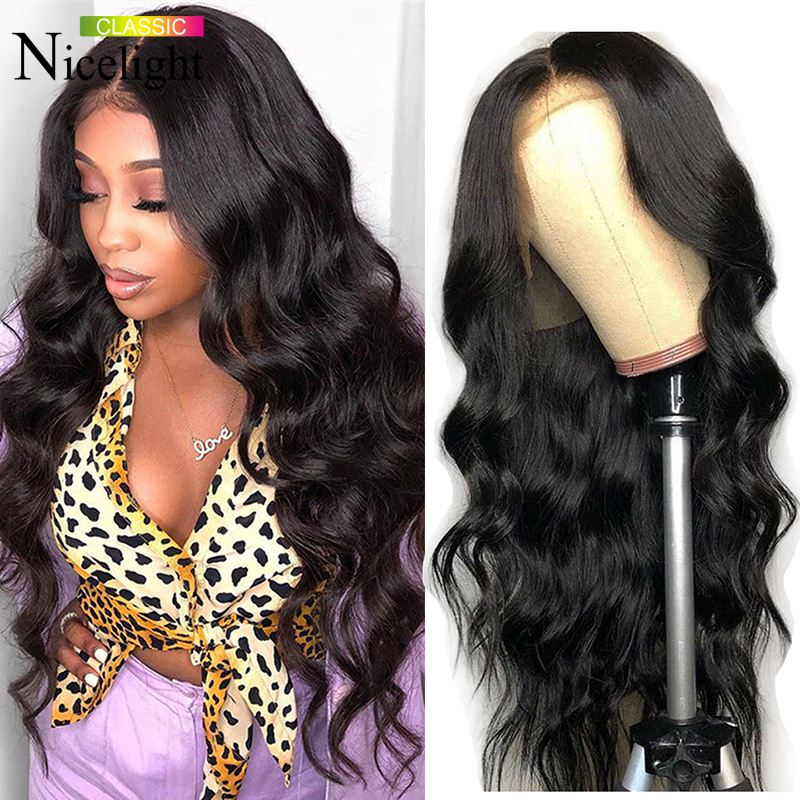 Nicelight Hair Body Wave Wig 360 Lace Frontal Human Hair Wigs  Brazilian Remy Hiar Wigs 150% Density 13x4 Lace Front Wigs