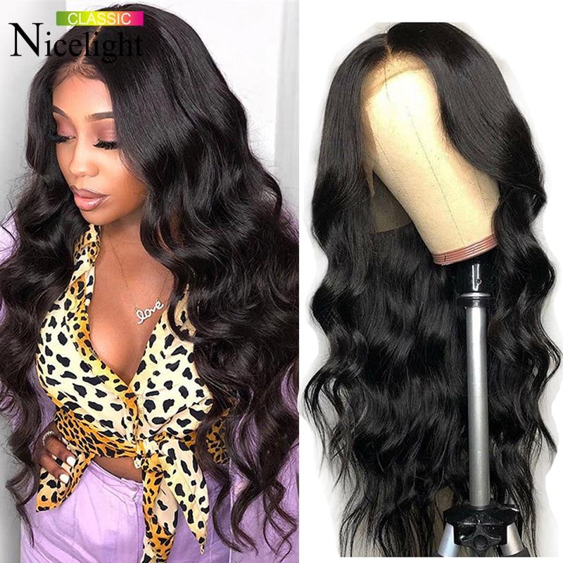 Nicelight Hair Body Wave Wig 360 Lace Frontal Human Hair Wigs  Brazilian Remy Hiar Wigs 150% Density 13x4 Lace Front Wigs