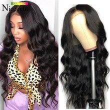 Hiar Wigs Lace-Frontal Human-Hair Nicelight Brazilian Hairline Body-Wave Pre-Plcuked