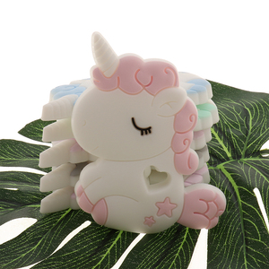 Image 4 - Mordedor de bebê atob 10 peças, peça de chupeta de koala roedor unicórnio seguro, mastigação alimentar, brinquedos da dentição do bebê, colar de pingente, acessórios