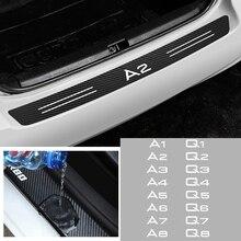 Car Styling Carbon Fiber Rear Trunk Bumper Protector Waterproof Sticker For AUDI A1 A2