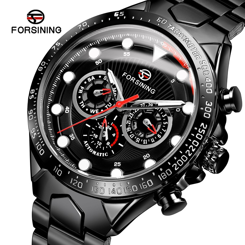 FORSINING Mens Watches Fashion Sport Business Steel Waterproof Automatic Mechanical Watch Clock Relogio Masculino Montre Homme