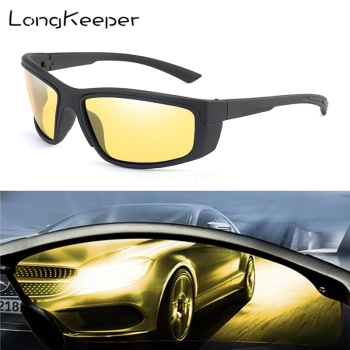 LongKeeper Hot Sale Night Driving glasses Anti Glare Glasses For Safety Driving Sunglasses Yellow Lens Night Vision Goggles sunglasses driving night vision lens sun glasses male anti uva uvb for men women with case