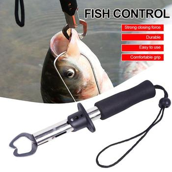 Fish Grip Lip Trigger Lock Gripper Clip Clamp Grabber Fish Pliers Grab Fishing Tackle Box Accessory Tool w portable fishing gripper grab catch mouth lip gripper grabber catcher fish grip hook fishing tackle tool