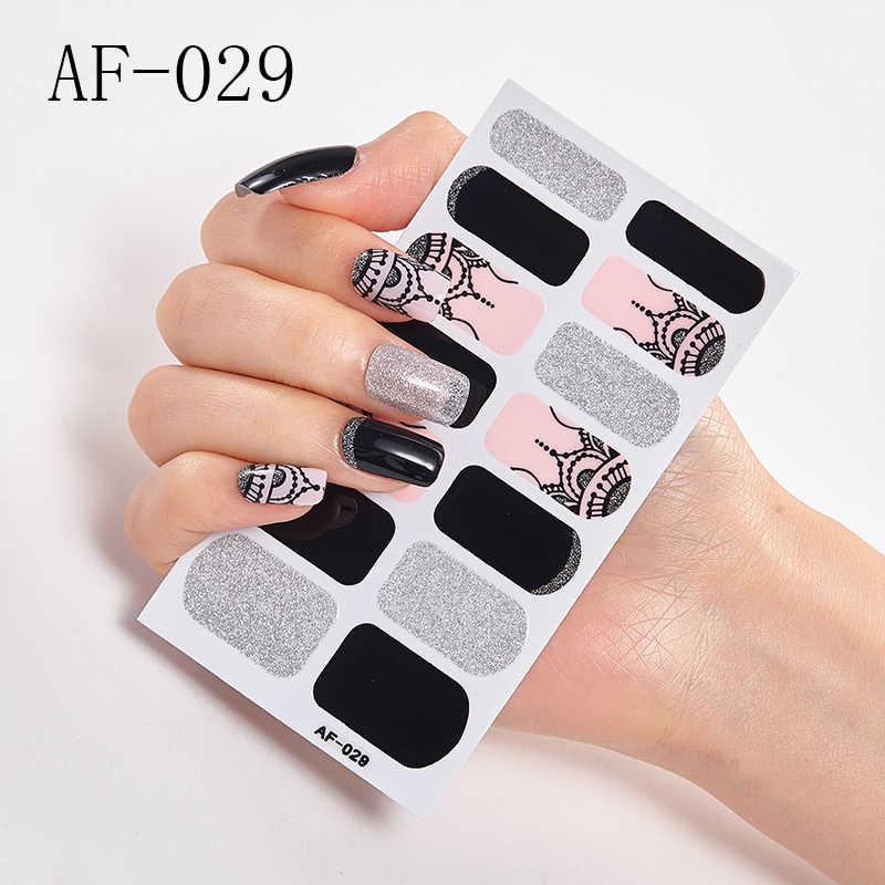 1Pcสติกเกอร์ผสมเล็บWrapsแบบดั้งเดิมสติกเกอร์เล็บ3D Nail ArtกาวDecalsกันน้ำยาวนาน