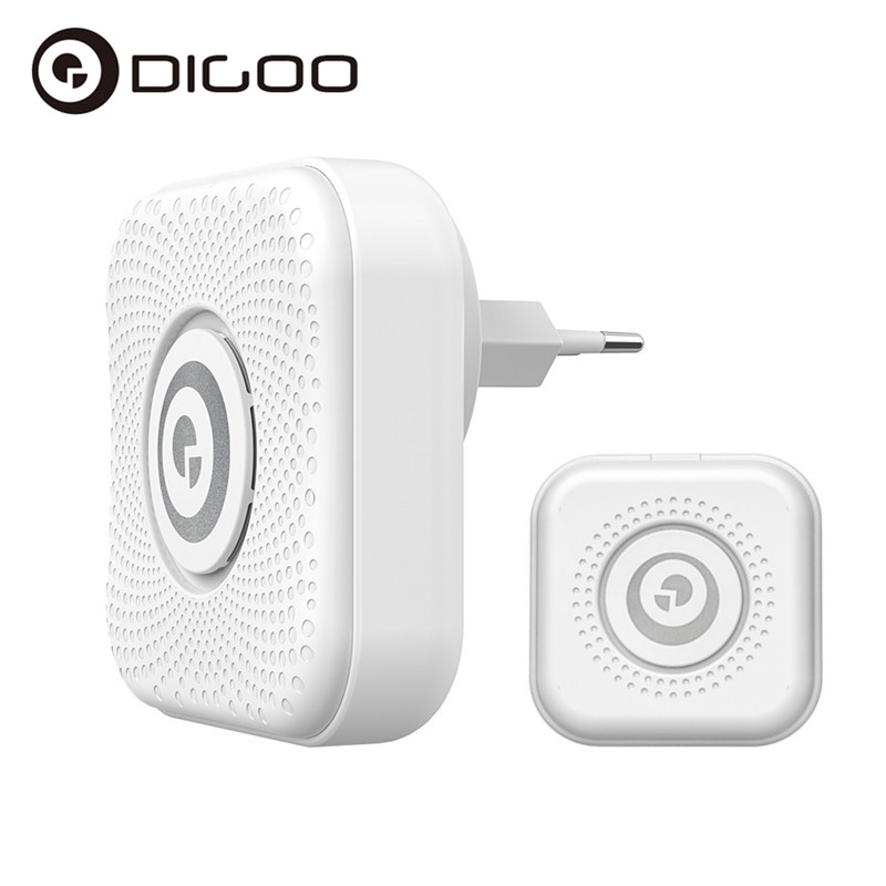 Presale DIGOO DG-PJ16R 433MHz Plug-in Wireless Doorbell Kit 36 Melodies Chime 8 Volume Adjustment 1 Button 1 EU Plug Receiver