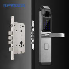 KPIOCCOK Biometric Fingerprint Door Lock Intelligent Electronic Lock Fingerprint Verification With Password & RFID Unlock