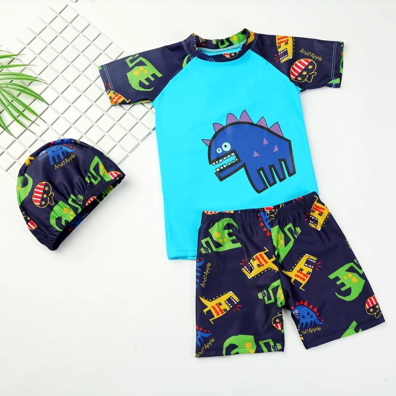 Hot Sales BOY'S Big Boy Two-piece Swimsuits KID'S Swimwear Foreign Trade Of The Original Infants Bathing Suit Swimming Trunks Se