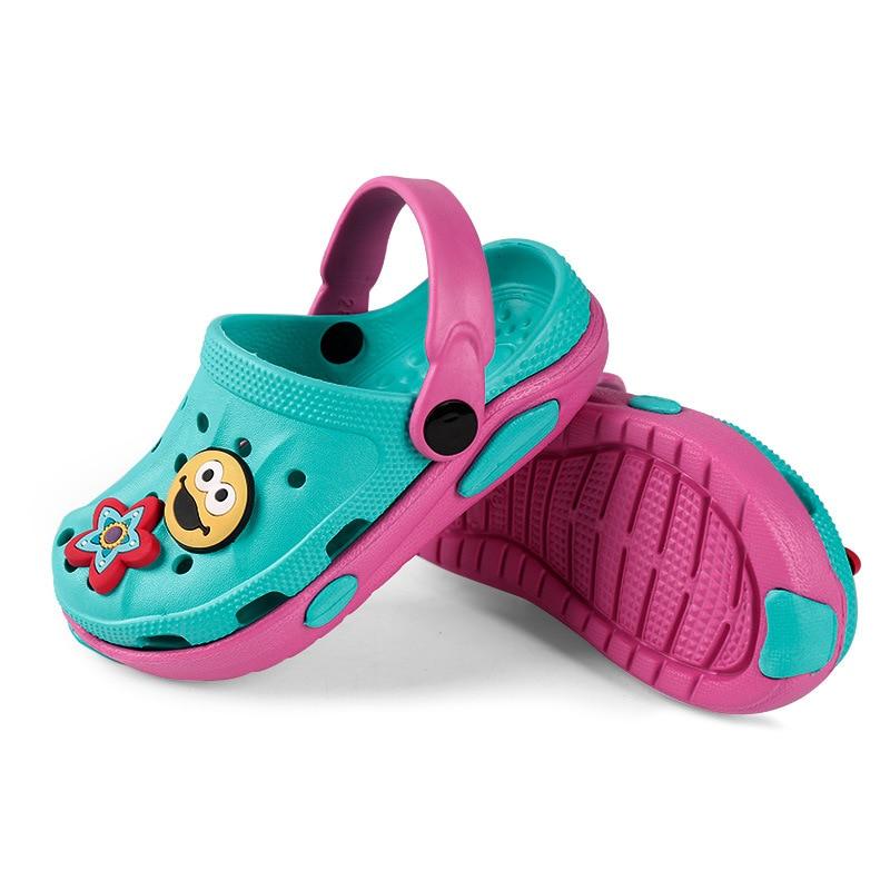 Summer Baby Boy Girls Shoes Breathable Children Shoes Sandals Beach Shoes Non-slip Leisure Wearable Cute Children Garden Shoes