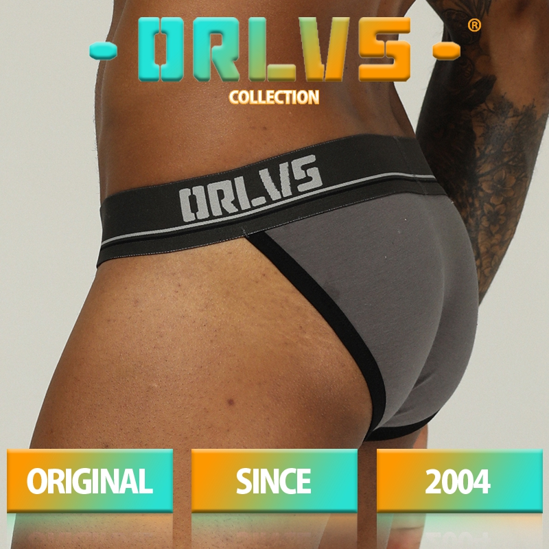 ORLVS Brand Men Underwear Sexy Underwear Cotton Breathable Comfortable Underpants Slip Homme Cueca Tanga Male Panties Men Briefs