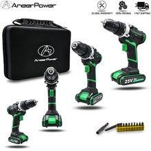 ANEER POWER - Perceuse visseuse électrique sans fil, batterie Lithium - option accessoires et coffre