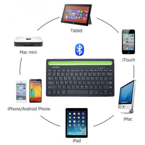 Image 3 - Bluetooth MIni Keyboard With Phone Holder Wireless Keyboard For Tablet/Laptop/phone,Compatible with IOS/Windows/Android