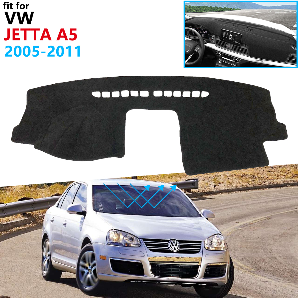 Dashboard Cover Protective Pad for VW Jetta A5 5 MK5 2005 2011 Car Accessories Dash Board Sunshade Carpet Anti-UV Dashmat 2010