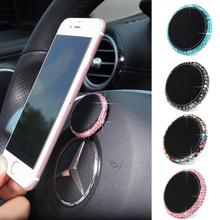 Magnetic Car Phone Holder Automotive Steering Wheel Magnetic Suction Diamante Mobile phone Bracket For iphone sumsung 5121 car steering wheel phone socket holder black red