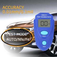 EM2271 0~ 2,0 мм цифровой мини-датчик толщины покрытия, автомобильная пленка, цинковая краска, толщиномер, измеритель толщины краски, толщиномер