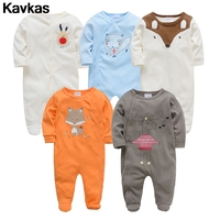 Kavkas 2020 spot 5pcs 100% cotton cute fresh male baby climbing suit high quality baby clothing