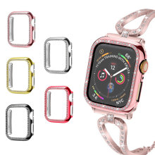 Funda protectora de reloj delgada para Apple Watch 3 2 1 40MM 44MM 360 cubierta de TPU transparente completa caso para Iwatch 3 2 1 38MM 42MM(China)