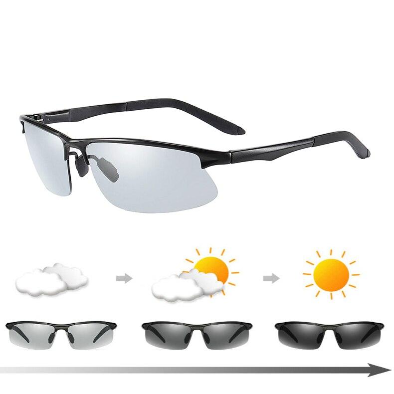 Photochromic Polarized Sunglasses Fishing Eyewear Goggles Travel Camping Hiking Driving Bicycle Cycling outdoor Sports Glasses|Fishing Eyewear| |  - title=