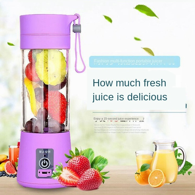 Multi Functional Mini Portable 6 Blades Electric Juicer Mixer USB Rechargeable Household Juice Blender Fruit Cooking Machine 3