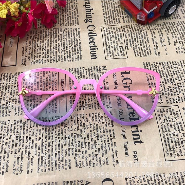 Детские солнцезащитные очки с милой Пчелкой, брендовые солнцезащитные очки для маленьких мальчиков и девочек 2020, желтые, розовые, кошачий г...