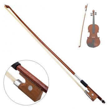 4 4 skrzypce łuk koński włos drewno kij plastikowy uchwyt skrzypce łuk skrzypce akcesoria instrumenty skrzypce łuk tanie i dobre opinie NoEnName_Null Skrzypce użytkowania EPC_SMI_100