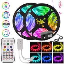 Bluetooth Controller RGB 5050 LED Strip Light 12V Wateproof tape diode 5m 10m 15m 20m Nylon light Color changing For Decoration