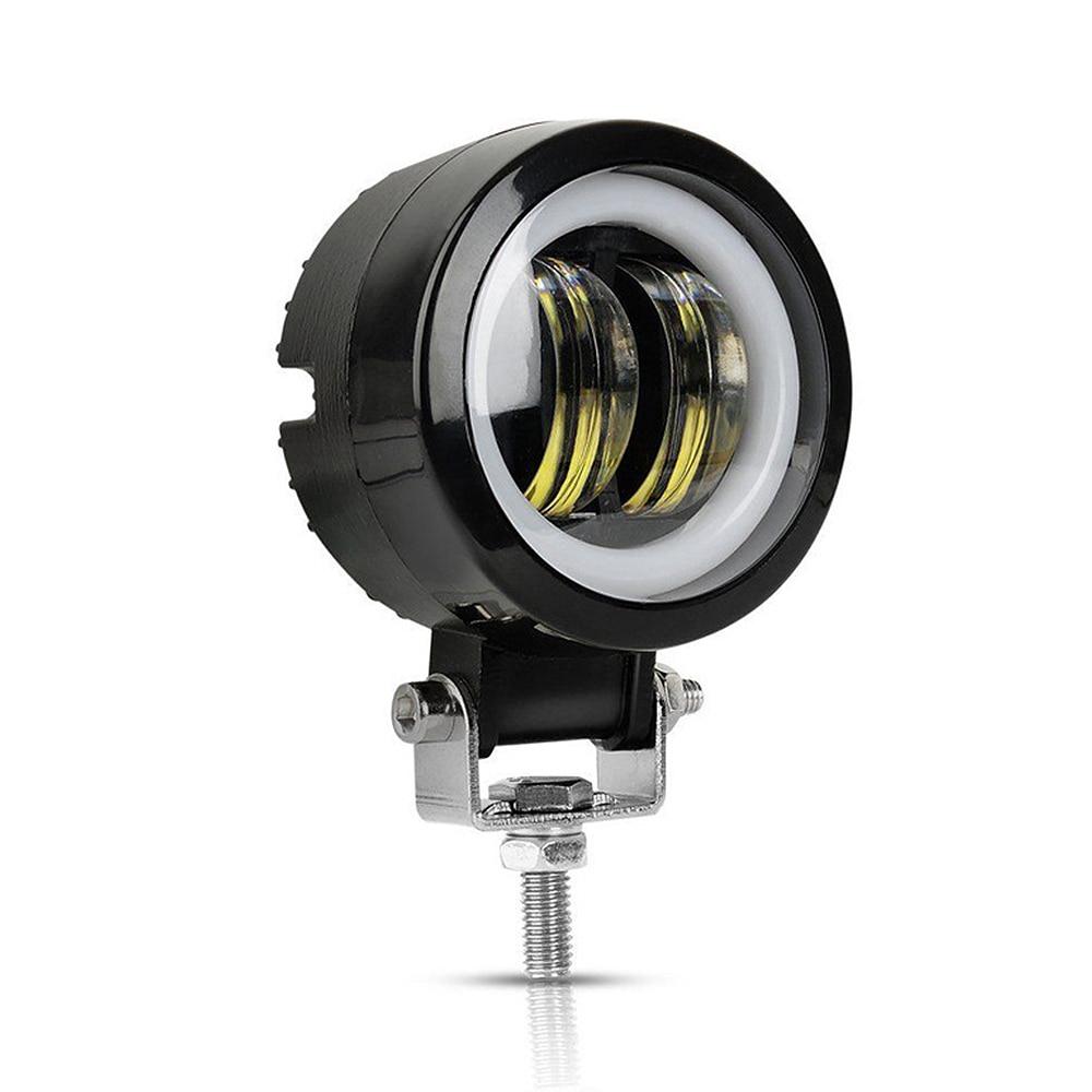 2PCS 3Inch 20W 12V 24V 6500K Waterproof Round LED Night Bar Lights Portable Spotlights Motorcycle Offroad Truck Driving Car Boat