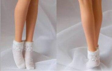 "PL45 Custom 1//6 White Lace Short Socks Clothing Model Accessories F//12/"" Female"
