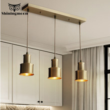 Nordic Led Pendant Lights Retro Industrial Pendant Lamp Bedside Bedroom Hanging Lamp Aisle Corridor Gold Luxury Lustre Fixtures(China)