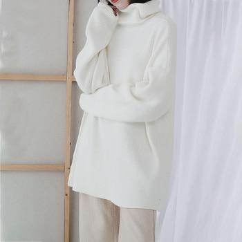 XUXI 2020 Fashion Women's Sweater Autumn Knitted Sweater Women's High Neck Long Sleeve Long Sleeve Sweater Loose FZ0414 4