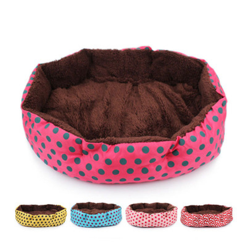 4 colors indoor dog bed spot winter warm house soft polar pet carp cat sleeping for puppy small medium s image