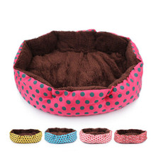 4 colors indoor dog bed spot winter warm house soft polar pet carp  cat sleeping  for puppy small medium s цена