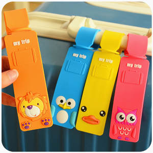 Bag-Labels Suitcase Id-Holder Travel-Luggage-Tags Address Baggage Name Silicone Fashion