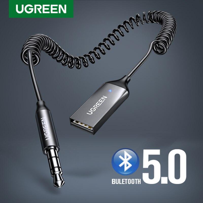 UGREEN Bluetooth Aux adaptateur sans fil voiture Bluetooth récepteur USB à 3.5mm Jack Audio musique micro adaptateur mains libres pour haut-parleur de voiture