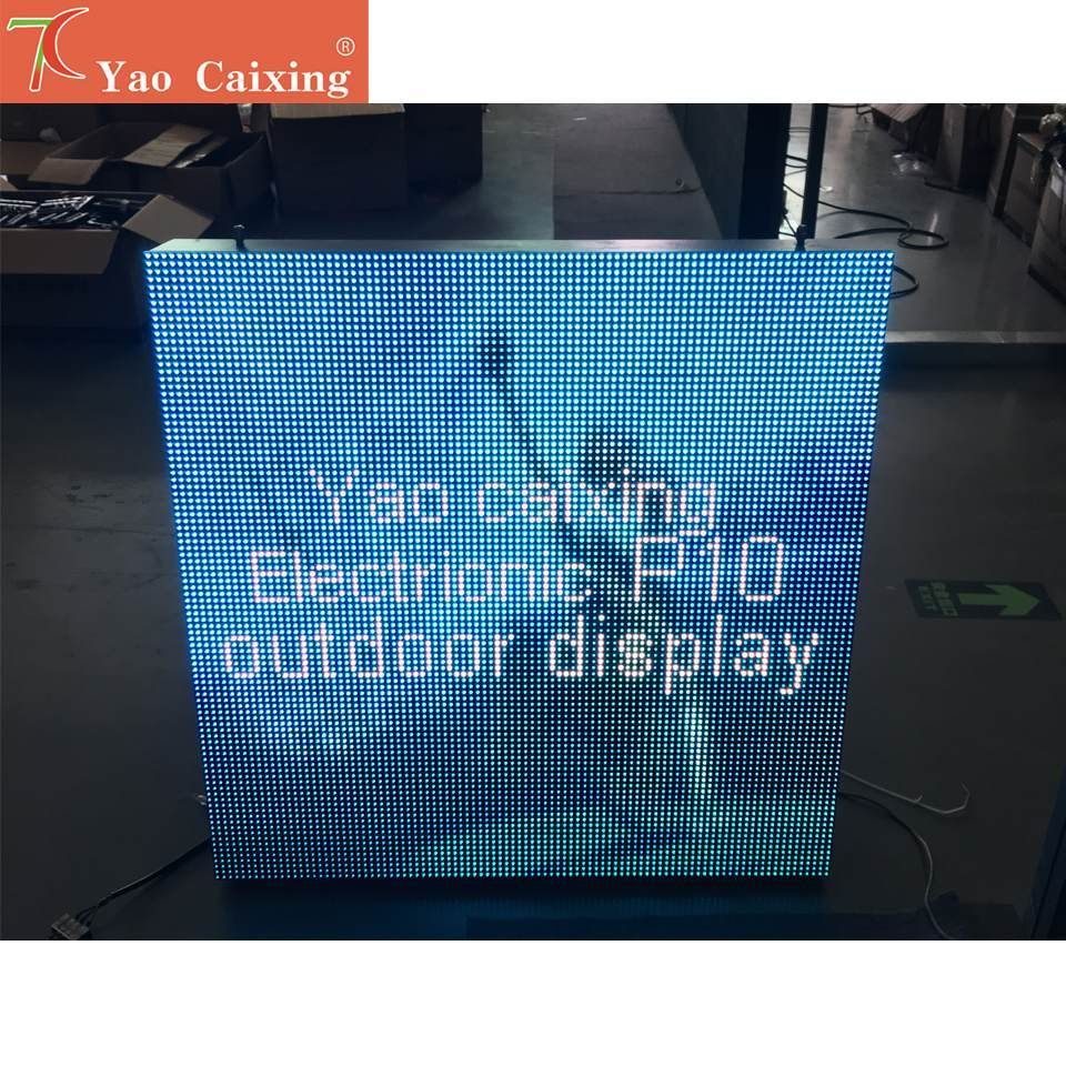 Cost-effective P10 SMD Full Color Outdoor Waterproof Cabinet Screen For Advertisement Huge Led Display