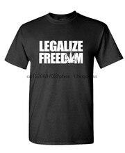 Legalize a liberdade-camisa de algodão masculina verão moda ao ar livre casual t