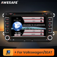 Автомагнитола AWESAFE 2 Din, DVD-плеер для VW Golf 5, 6, Touran, Passat B6, B7, Sharan, Jetta, Polo, Tiguan, Skoda, Seat, GPS