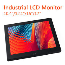 15 17 12 10 Inch Industrial Display LCD Screen Monitor VGA USB Interface Resistance Touch Screen Computer Monitor Wall Mounting b100jc abhuv 10 inch touch monitor 10 inch touch display hdmi hd resistance touch monitor meal industrial medical touch screen