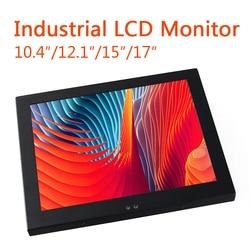 Промышленный ЖК-дисплей 15/17/12/10 дюймов, монитор VGA с USB-интерфейсом, сенсорный экран, монитор компьютера, Настенный монтажный