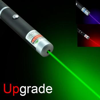 Upgrade wskaźnik laserowy wskaźnik laserowy o wysokiej mocy pióro celownik zielony niebieski czerwony Laser myśliwski wojskowy polowanie wskaźnik laserowy światło tanie i dobre opinie 1-5 mW CN (pochodzenie) Celownik laserowy 5mw Laser Pointer Red Green Blue-Violet light (optional) 500 meters 500-1000 meters