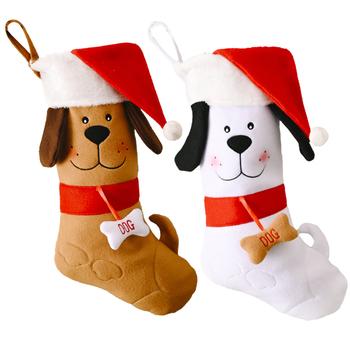 2 szt Pończochy pluszowe pończochy prezentowe pończochy świąteczne pończochy świąteczne pończochy choinkowe do kominka tanie i dobre opinie CN (pochodzenie) Christmas socks Tkaniny