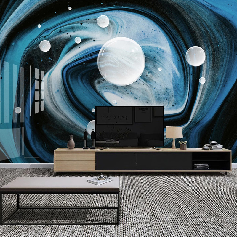 Custom Mural Blue Modern Creative 3D Abstract Starry Sky Art Wall Painting Living Room Sofa TV Background Photo Wall Paper Roll